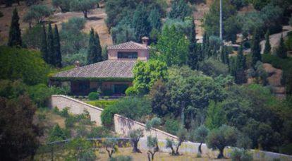 Vivienda de Dolores de Cospedal y su marido el empresario Ignacio López del Hierro, en el cigarral de la ermita de Toledo.
