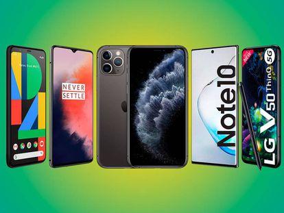 El Apple iPhone 11 Pro, el Google Pixel 4 y el Samsung Galaxy Note10 son algunos de los mejores móviles de 2019.