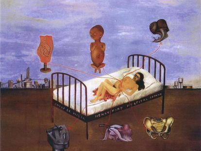 'Hospital Henry Ford' (1932), de Frida Kahlo.