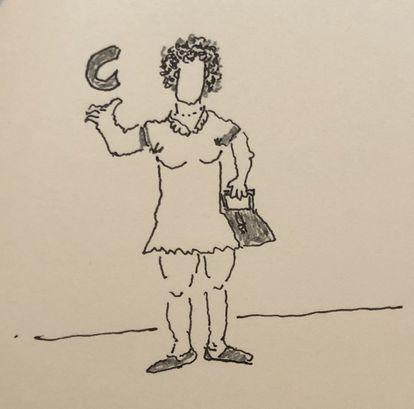 Concepción Camarena Covarrubias. Ilustración de Jorge F. Hernández