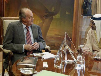 Juan Carlos l, en una reunión con Abdullah bin Zayed Al Nahayan en 2012.