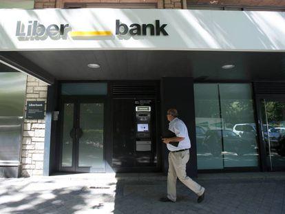 Una sucursal de Liberbank en Madrid.
