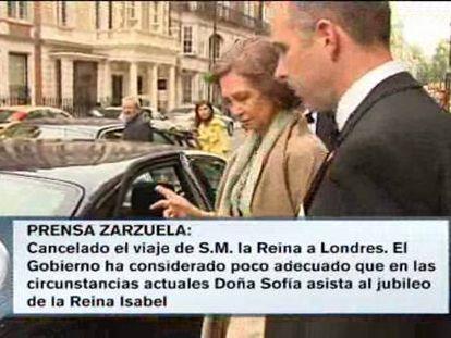 La Reina anula un viaje a Londres ante los roces con Gibraltar