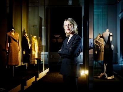 Miren Arzalluz, fotografiadaen el Palais Galliera, sededel Museo de la Moda deParís, institución culturalque dirige desde 2018.