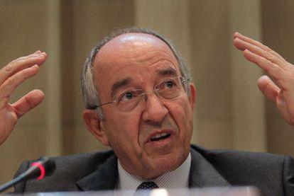 El gobernador del Banco de España, Miguel Ángel Fernández Ordóñez, el pasado viernes.