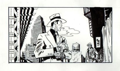 Dibujo original de 'Torpedo 1936'.