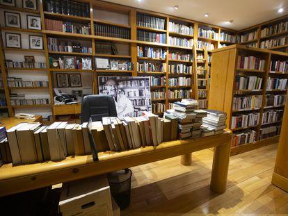 La biblioteca personal de Carlos Fuentes ubicada en la casa de la Colonia San Jerónimo, en Ciudad de México.