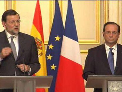Rajoy y Hollande redoblan la presión sobre el Banco Central Europeo