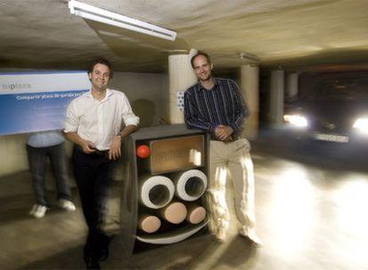 Los promotores de TuPlaza, dedicado al alquiler de garaje por horas.