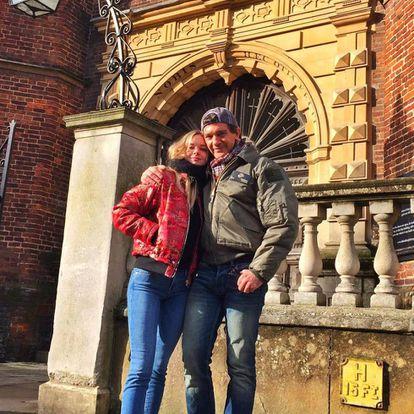 Antonio Banderas y su hija Stella el pasado mes de febrero en Guilford en el estado de Connecticut.