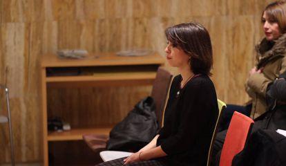 Juana Rivas en la Audiencia de Granada.