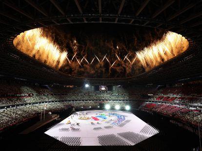 Un momento de la ceremonia de apertura de los Juegos Paralímpicos, este martes.