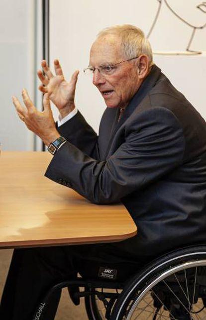 Wolfgang Schäuble, este martes durante la entrevista.