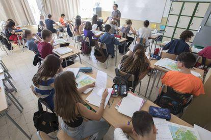 Alumnos del instituto Montserrat de Barcelona.