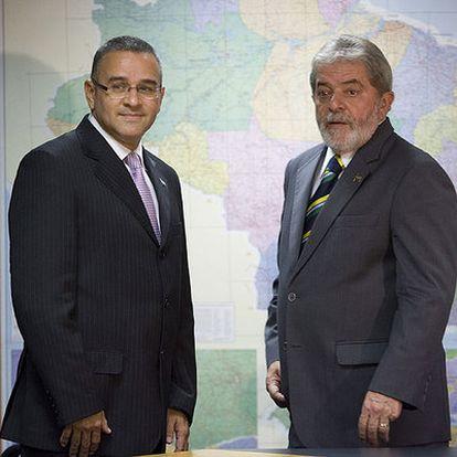 Mauricio Funes (izquierda) se reunió ayer con Lula en São Paulo.
