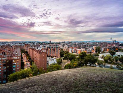 El parque de las siete tetas ofrece una panorámica completa de Madrid.
