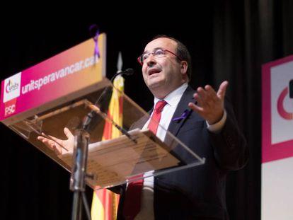 El candidato del PSC para las elecciones catalanas, Miquel Iceta.