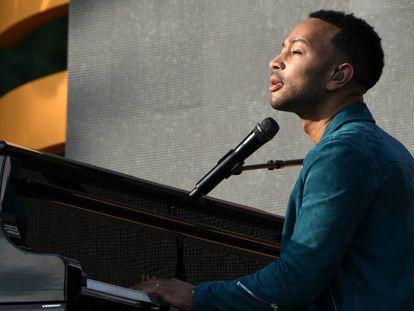 En vídeo, la actuación de John Legend en el Preach Global Citizen Festival.