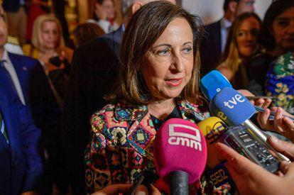 La ministra de Defensa en funciones, Margarita Robles, en el seminario internacional de seguridad y defensa de Toledo.