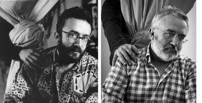 Pablo Sycet retratado por García-Alix (1987), a la izquierda, y Luis Jurado (2007)