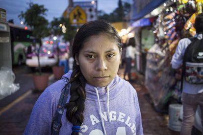 Blanca García, de 25 años, en Xochimilco (Ciudad de México).