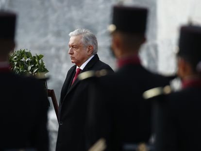 El presidente de México, Andrés Manuel López Obrador, en un acto este lunes.