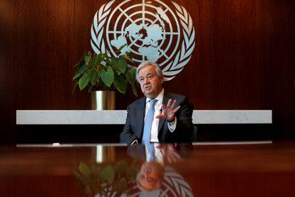 António Guterres, secretario general de la ONU, durante una entrevista en la sede de Naciones Unidas en Nueva York.