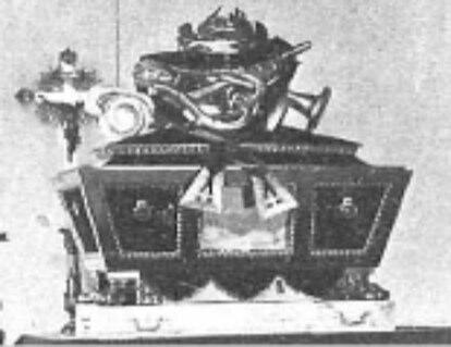 Urna funeraria de Calderón de la Barca hacia 1902.