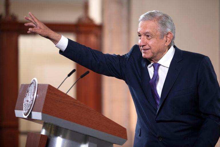 El presidente mexicano, Andrés Manuel López Obrador, en el Palacio Nacional, este lunes.
