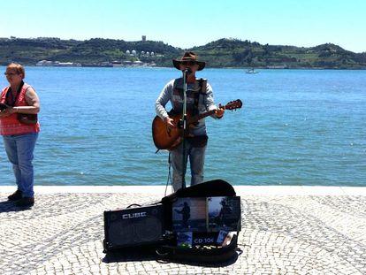 Tomané, en una de sus actuaciones en Belém.