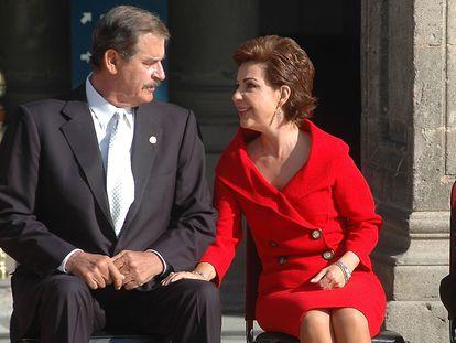 El expresidente de México Vicente Fox Quesada, y su mujer, Marta Sahagún, en una imagen de archivo.