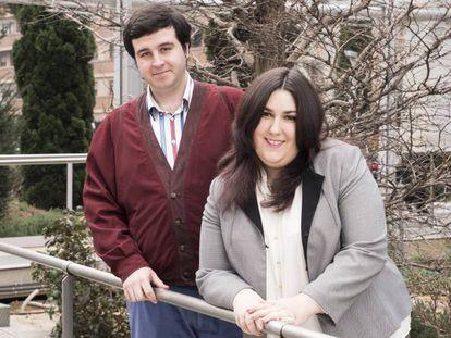Darko Díaz y su pareja, Cristina Paredero.