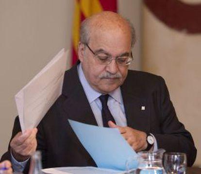 El consejero de Economía catalán, Andreu Mas-Colell, ayer.
