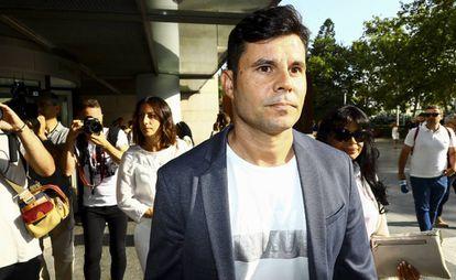 Javier Sánchez Santos en los juzgados de Valencia en 2019.