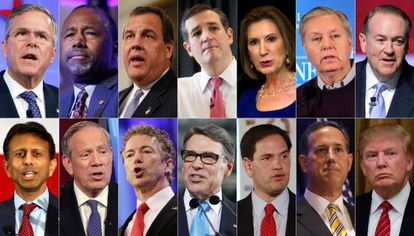 Los candidatos republicanos.