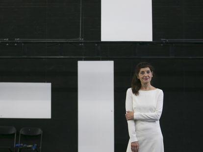 Nieve de Medina, en los ensayos de su obra en los Teatros del Canal.