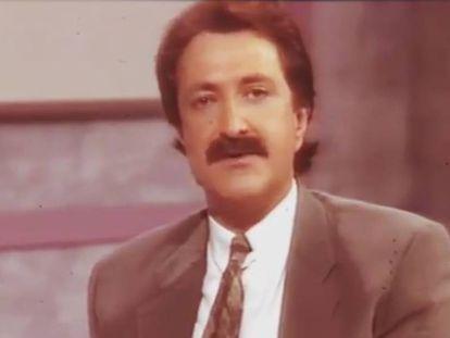 Paco Lobatón en uno de los programas de 'Quién sabe dónde' dedicado al caso Alcàsser en 1993.