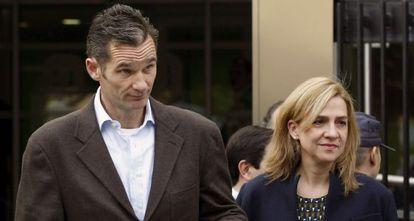 La infanta Cristina y su esposo, Iñaki Urdangarín, en noviembre de 2012.