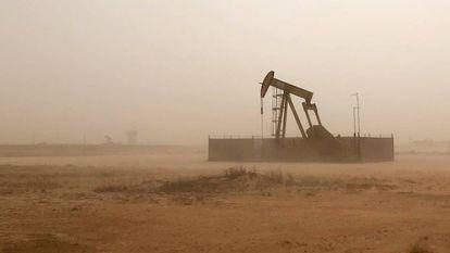 Una bomba de extracción de petróleo en Texas (EE. UU.).