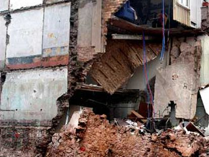 Casa derrumbada en la madrugada del viernes en Sant Fruitós de Bages.