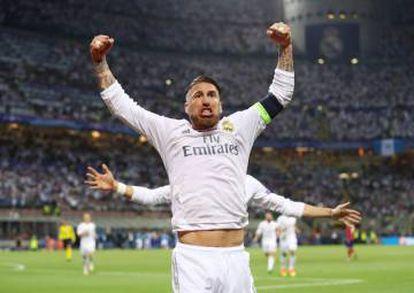 FOTOGALERÍA   Sergio Ramos festeja durante el partido.