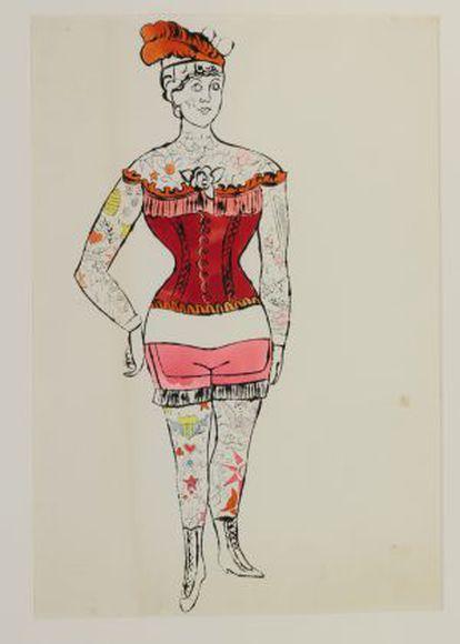 'Untitled (tattooed woman)' (1955).