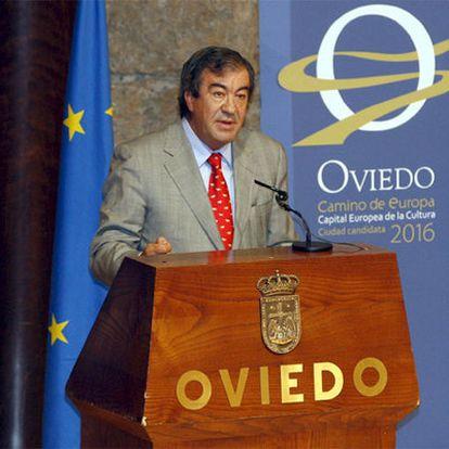 Francisco Álvarez-Cascos, durante un acto en Oviedo en septiembre pasado.