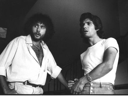 Diego Carrasco y Camarón, durante la grabación del disco 'La leyenda del tiempo'.