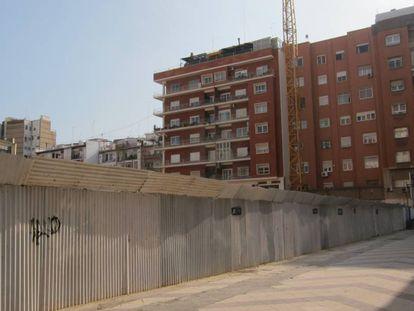 Un solar en construcción en Valencia, en una imagen de archivo.