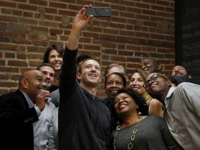 El líder de Facebook, Mark Zuckerberg, en un acto reciente.