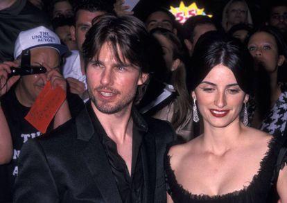 Tom Cruise y Penélope Cruz en el estreno de 'Minority Report' en Nueva York en 2002.
