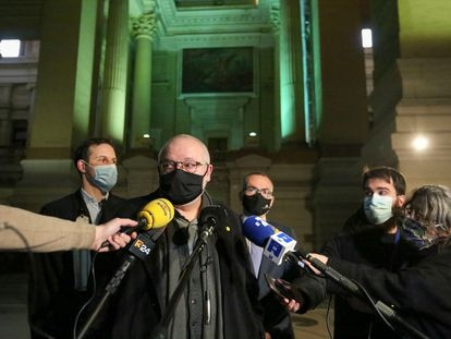 El exconsejero Lluis Puig tras la audiencia celebrada ante el Tribunal de Apelación de Bruselas.