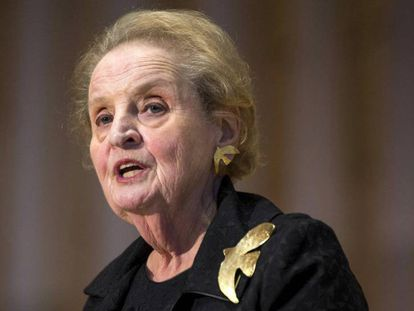 La ex secretaria de Estado estadounidense, Madeleine Albright, el año pasado