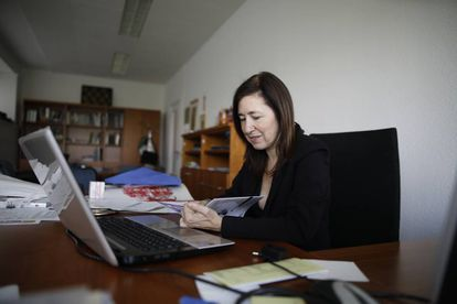 La vicerrectora de relaciones internacionales de la UAM hasta julio de 2017, Amaya Mendikoetxea.